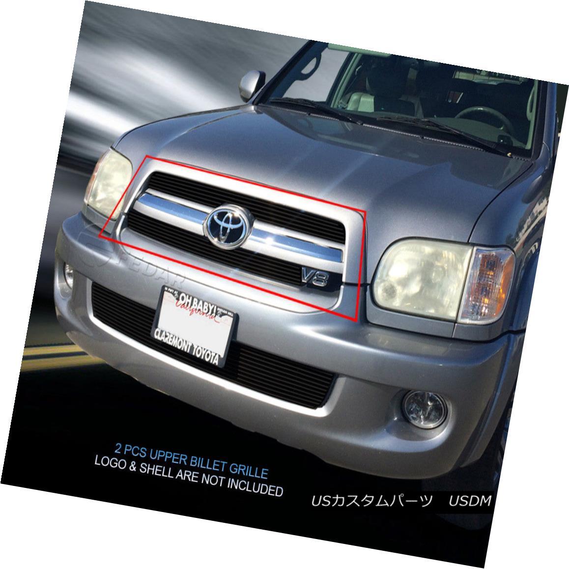 グリル For 05 06 07 Toyota Sequoia Black Billet Grille Grill Upper Insert Fedar 05 06 07トヨタセコイアブラックビレットグリルグリルアッパーインサートフェルダー