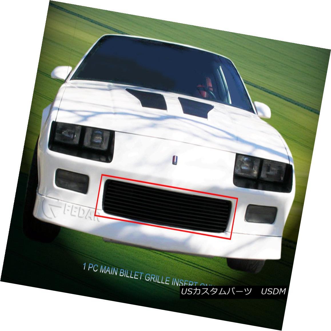 グリル 1982-1987 Chevy Camaro Z28 Black Billet Grille Grill Insert Fedar 1982-1987シボレーカマロZ28ブラックビレットグリルグリルインサートFedar