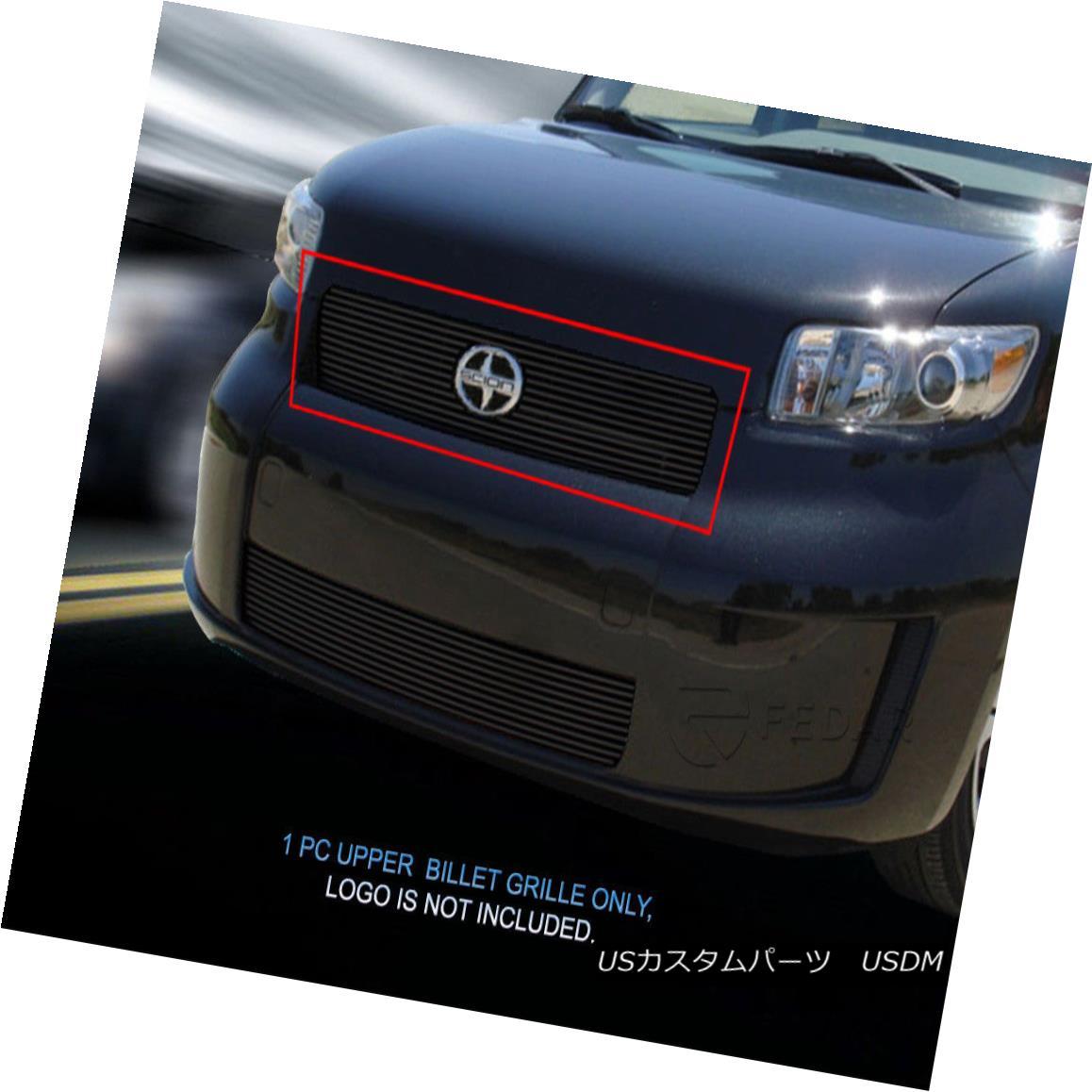 グリル For 2008-2010 Scion XB Black Bolt-On Billet Grille Main Upper Grill Insert Fedar 2008-2010シオンXBブラックボルトオンビレットグリルメインアッパーグリルインサートフェルダ