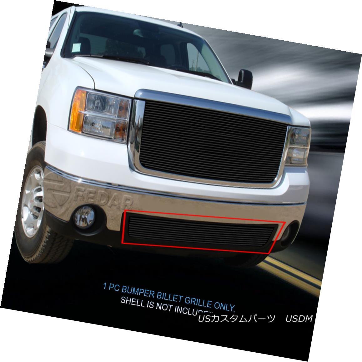 Grille 1 GMC PC 07-13 Sierra グリル Black 07-13 For Billet Sierra/07-10 Fedar 07-10デナリブラックビレットグリルバンパーインサート1 Insert GMC PC / Bumper Denali Fedar