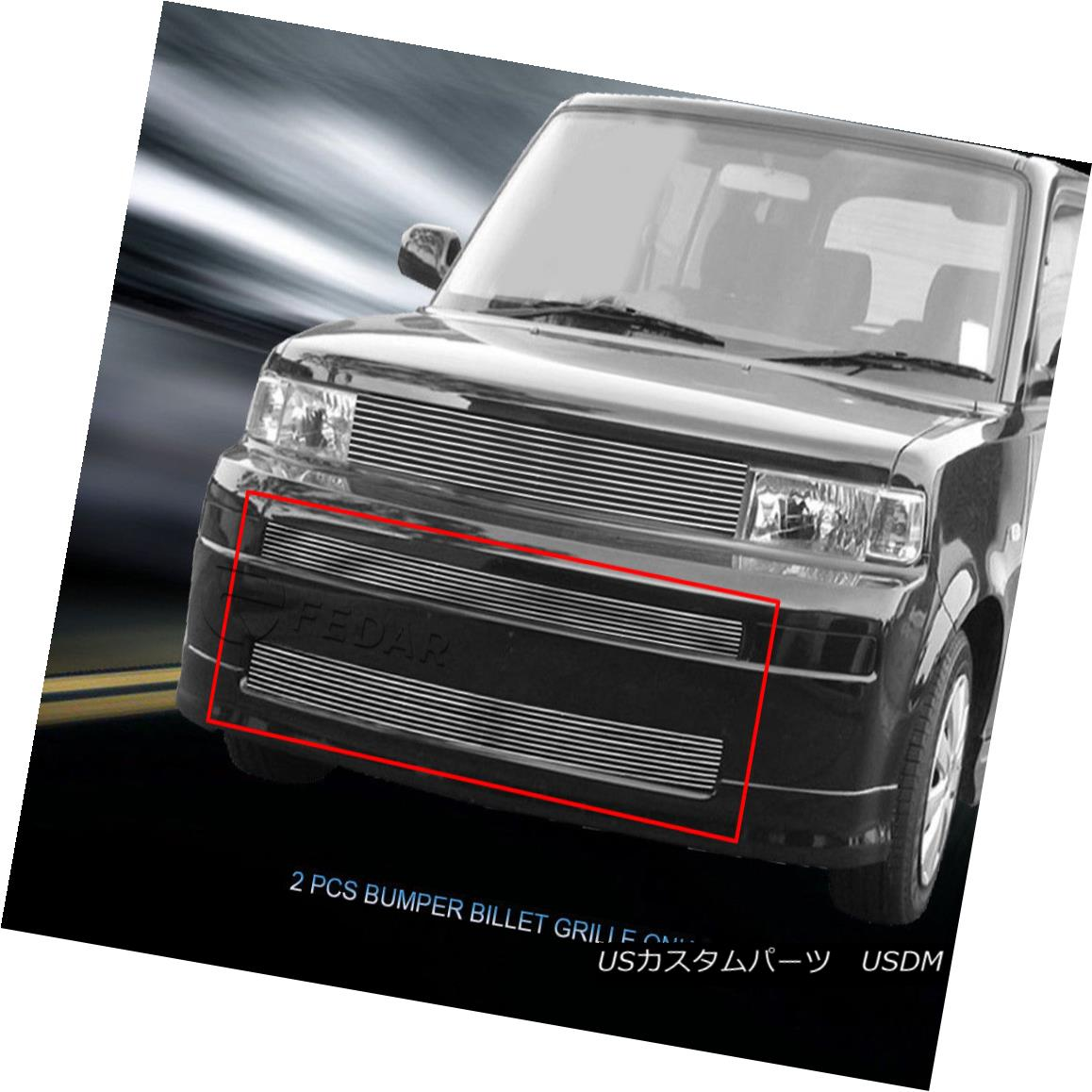グリル Fedar Fits 03-07 Scion XB Polished Billet Grille Overlay Fedar Fits 03-07 Scion XBポリッシュビレットグリルオーバーレイ