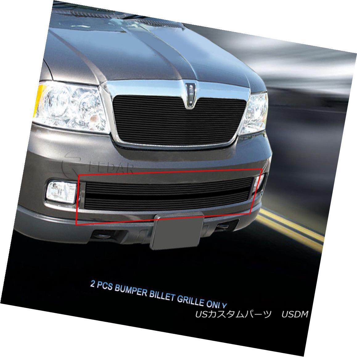 グリル Fedar Fits 2005-2006 Lincoln Navigator Black Lower Bumper Billet Grille Fedarは2005-2006年に合うリンカーン・ナビゲーターBlack Lower Bumper Billet Grille
