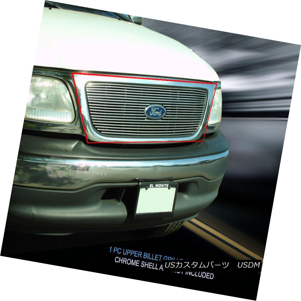 グリル Fedar Fits 1999-2003 Ford F-150 Polished Main Upper Billet Grille Fedarは1999-2003年のFord F-150の磨き上げられたメインアッパービレットグリル