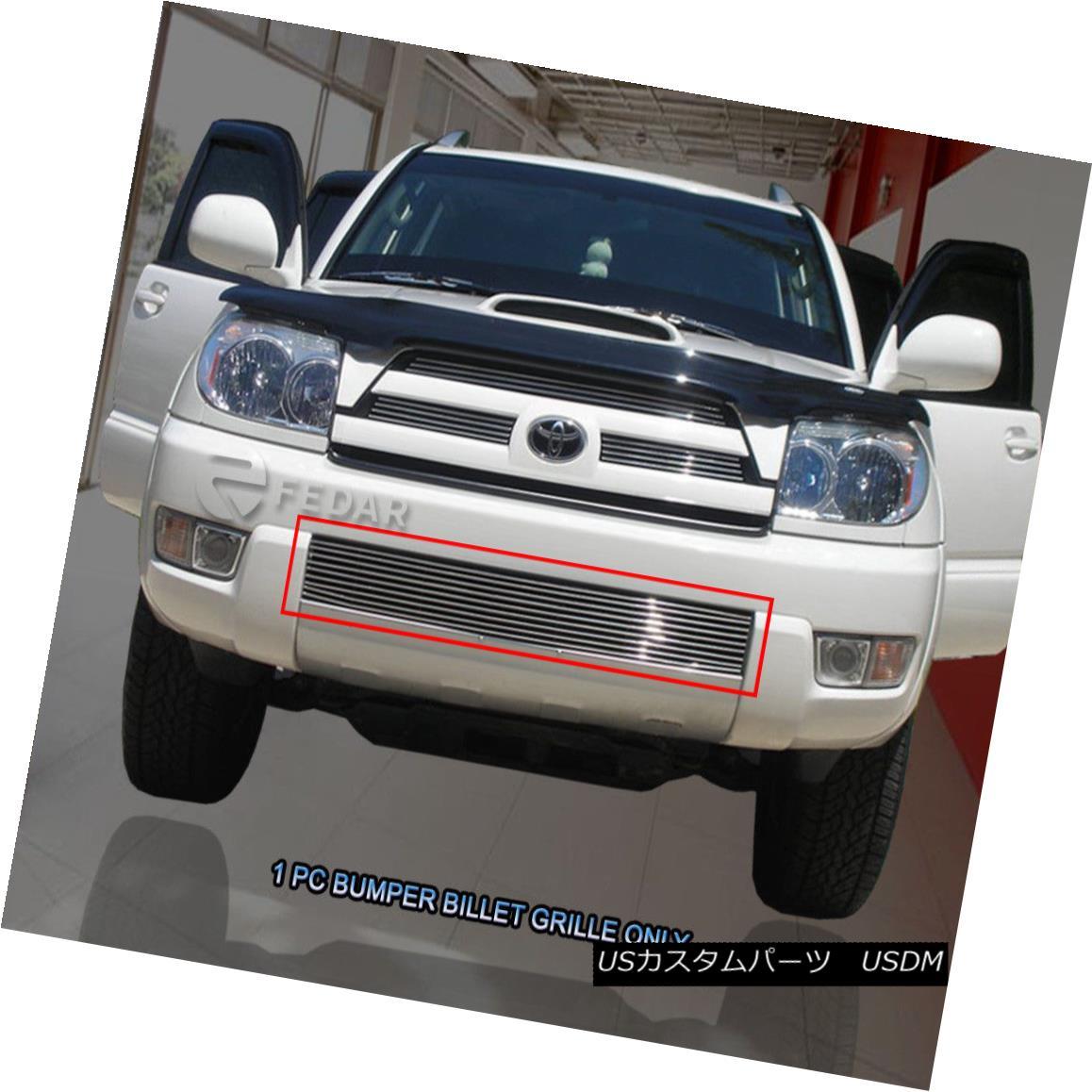 グリル For 2003-2005 Toyota 4Runner Bolt-On Billet Grille Bumper Grill Insert Fedar 2003?2005年トヨタ4Runner Bolt-OnビレットグリルバンパーグリルInsert Fedar