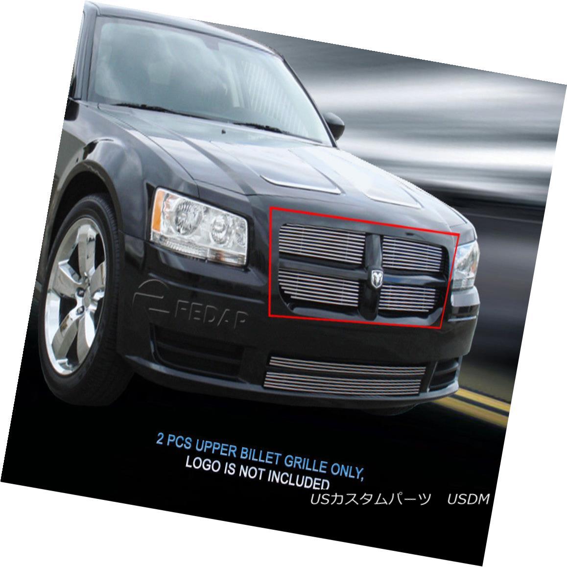 グリル 2008-2010 Dodge Magnum Billet Grille Upper Grill Insert 2 Pcs Fedar 2008-2010ダッジマグナムビレットグリルアッパーグリルインサート2個入りFedar