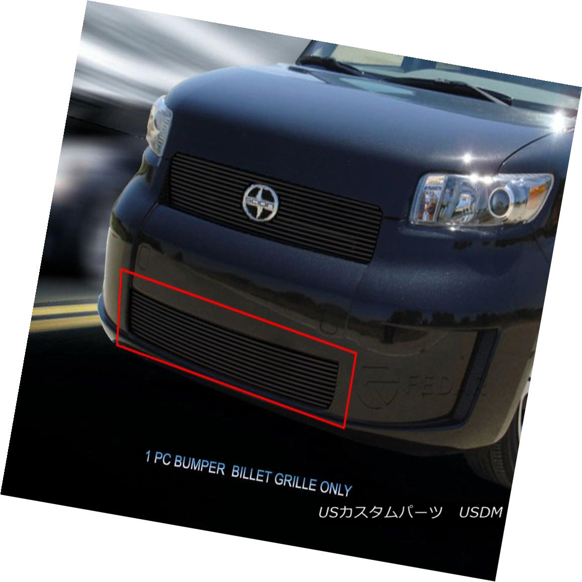 グリル For 08-10 Scion XB Black Bolt-On Billet Grille Main Bumper Grill Insert Fedar 08-10 Scion XB Black Bolt-OnビレットグリルメインバンパーグリルインサートFedar