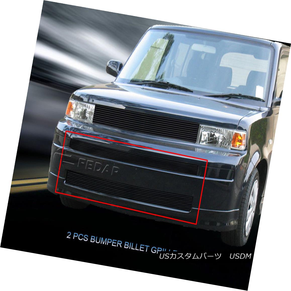 グリル Fedar Fits 03-07 Scion XB Black Billet Grille Overlay Fedar Fits 03-07 Scion XBブラックビレットグリルオーバーレイ