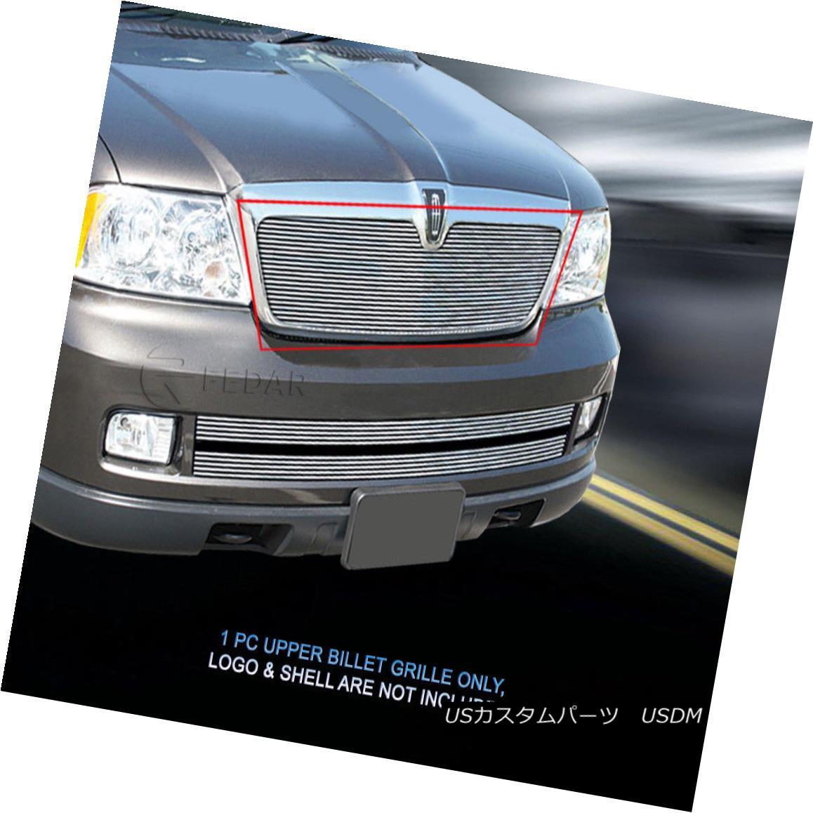 グリル Fedar Fits 2003-2006 Lincoln Navigator Polished Main Upper Billet Grille Fedar Fitting 2003-2006リンカーン・ナビゲーター、メインアッパー・ビレット・グリルを研磨