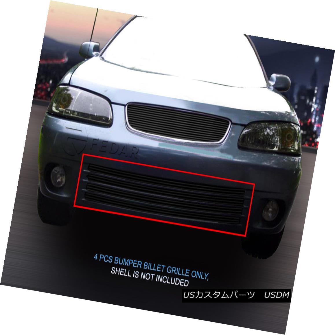 グリル Fedar Fits 2000-2003 Nissan Sentra Black Billet Grille Insert 2000-2003年の日産セントラ・ブラック・ビレット・グリル・インサート