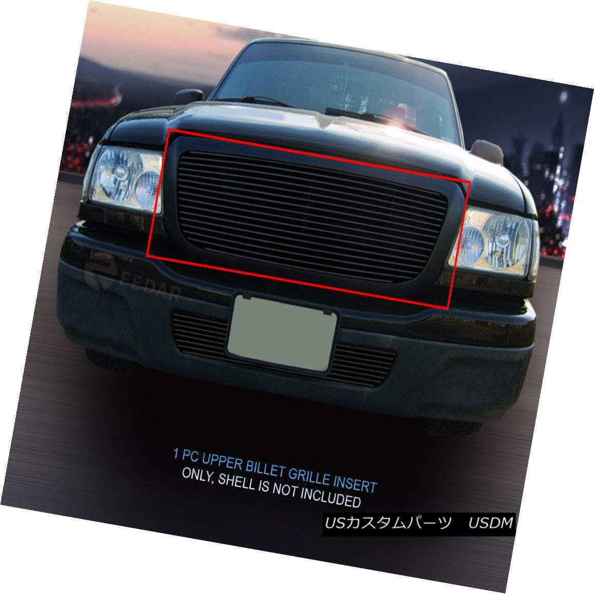 グリル For 04-05 Ford Ranger Black Billet Grille Grill Upper Insert 1 PC Fedar 04-05 For Ford Rangerブラックビレットグリルグリルアッパーインサート1 PC Fedar