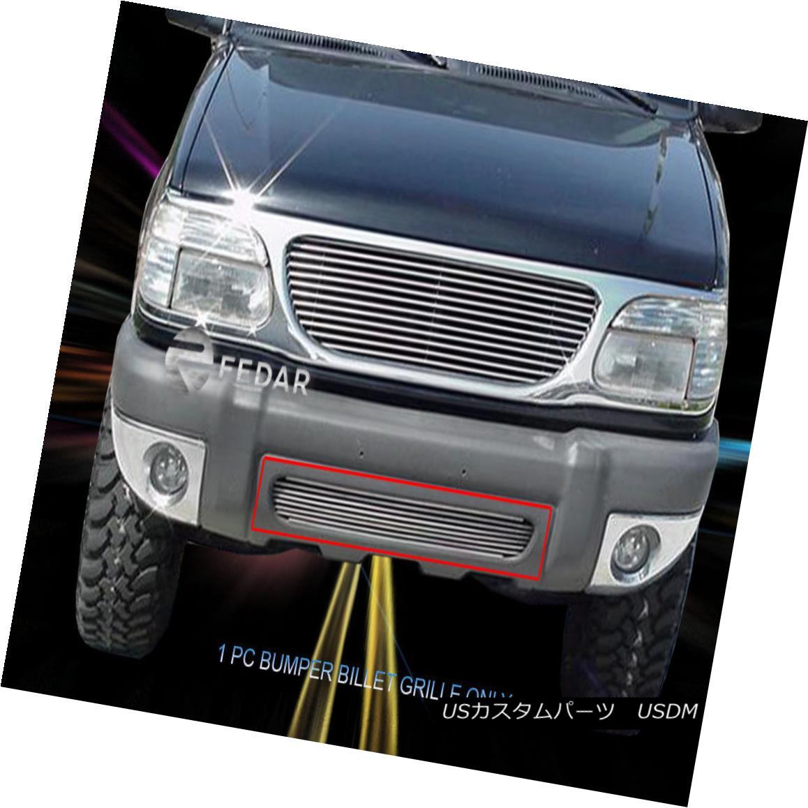 グリル For 1999-2001 Ford Explorer Replacement Billet Grille Lower Bumper Insert Fedar 1999-2001フォードエクスプローラー交換用ビレットグリルロワーバンパーインサートFedar