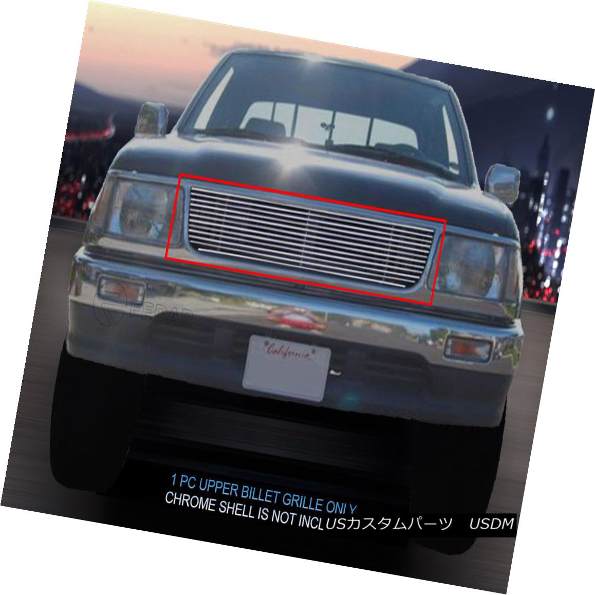 グリル Fedar Fits 1993-1999 Toyota T-100 Pickup Polished Main Upper Billet Grille Fedar Fitch 1993-1999 Toyota T-100 Pick Up Polishedメインアッパービレットグリル