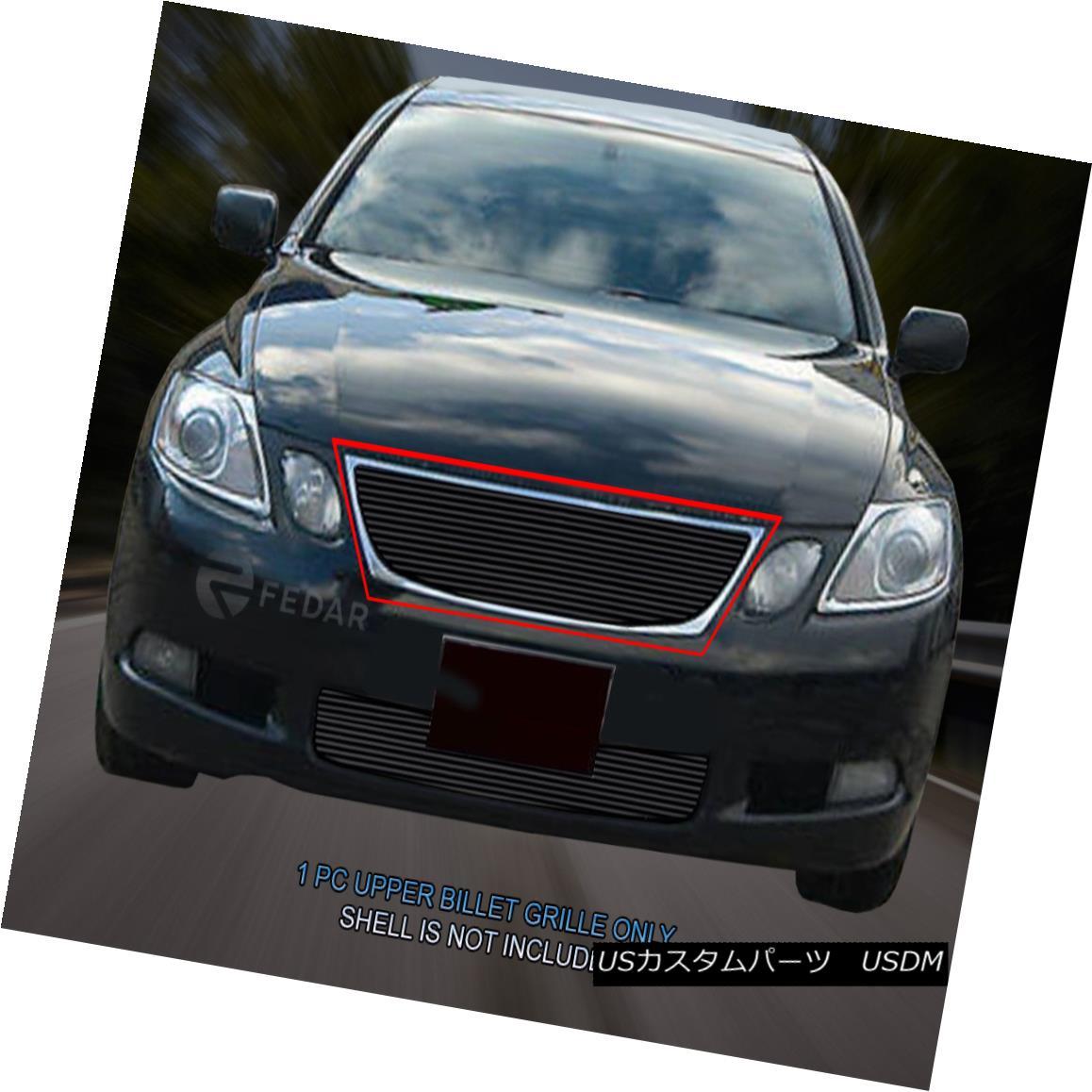 グリル Fedar Fits 05-07 Lexus GS 300/GS350/450H/GS430 Black Billet Grille Overlay Feder Fits 05-07 Lexus GS 300 / GS350 / 450H / GS430ブラックビレットグリルオーバーレイ