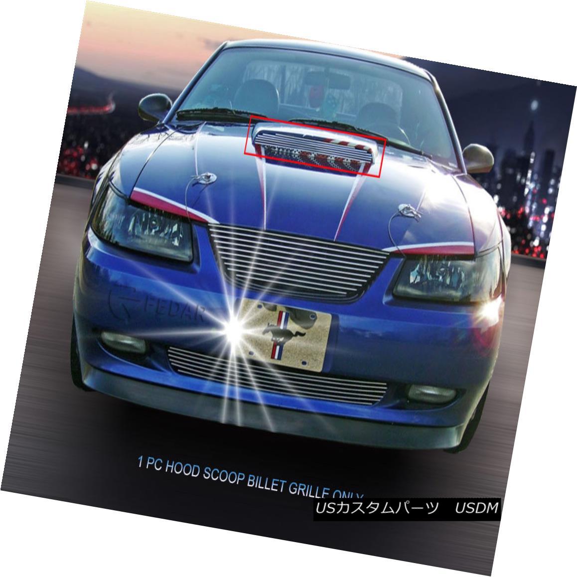 グリル 1999-2004 Ford Mustang GT V8 Hood Scoop Billet Grille Upper Grill Insert Fedar 1999-2004フォードマスタングGT V8フードスクープビレットグリルアッパーグリルインサートフェルダ