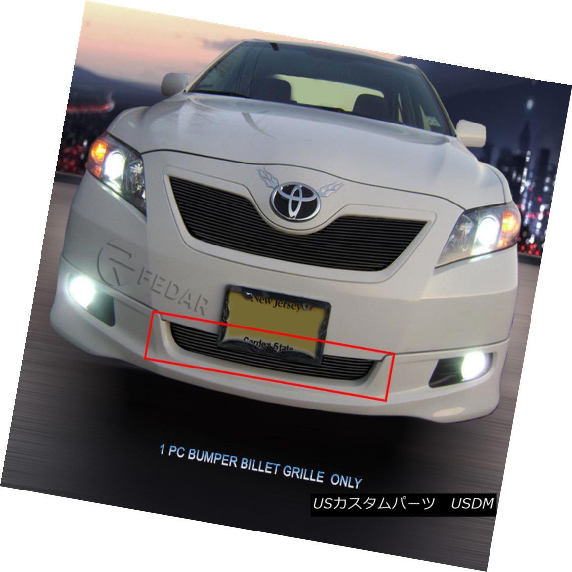 グリル 07-09 Toyota Camry Black Billet Grille Grill Bumper Insert Fedar 07-09トヨタカムリブラックビレットグリルグリルバンパーインサートFedar