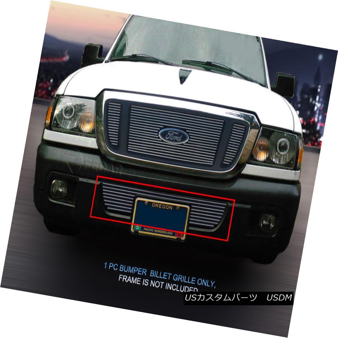 グリル For 2004-2005 Ford Ranger Bolt-On Billet Grille Grill Bumper Insert 1 PC Fedar 2004-2005年フォードレンジャーボルトオンビレットグリルグリルバンパーインサート1 PC Fedar