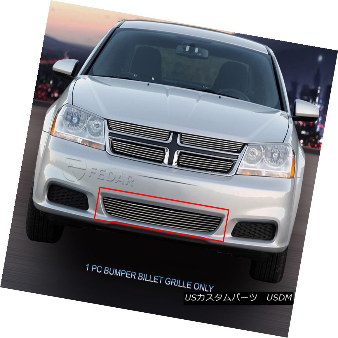 グリル Fedar Fits 2011-2014 Dodge Avenger Polished Billet Grille Insert Fedarは2011-2014 Dodge Avenger Polished Billet Grilleインサートを適合