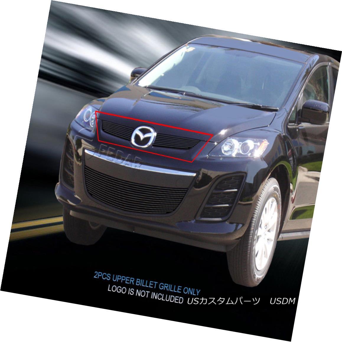 グリル Fedar Fits 2010-2012 Mazda CX-7 Black Main Upper Billet Grille Fedarは2010-2012年マツダCX-7黒メインアッパービレットグリルを適合させる