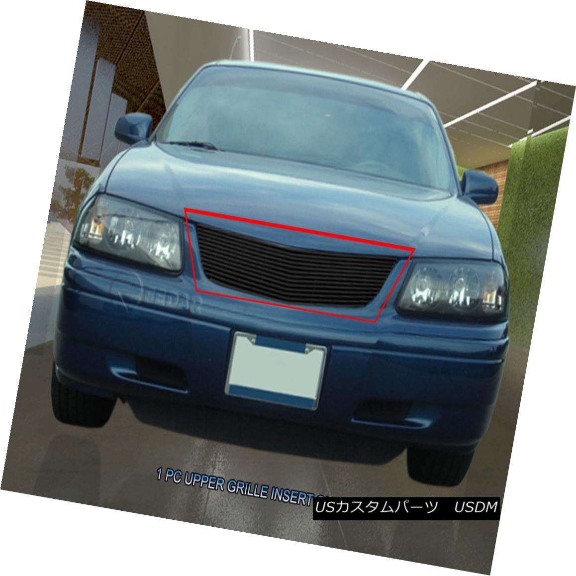 グリル Fedar Fits 2000-2005 Chevy Impala Black Main Upper Billet Grille Fedarは2000-2005年に合うChevy Impala Blackメインアッパービレットグリル