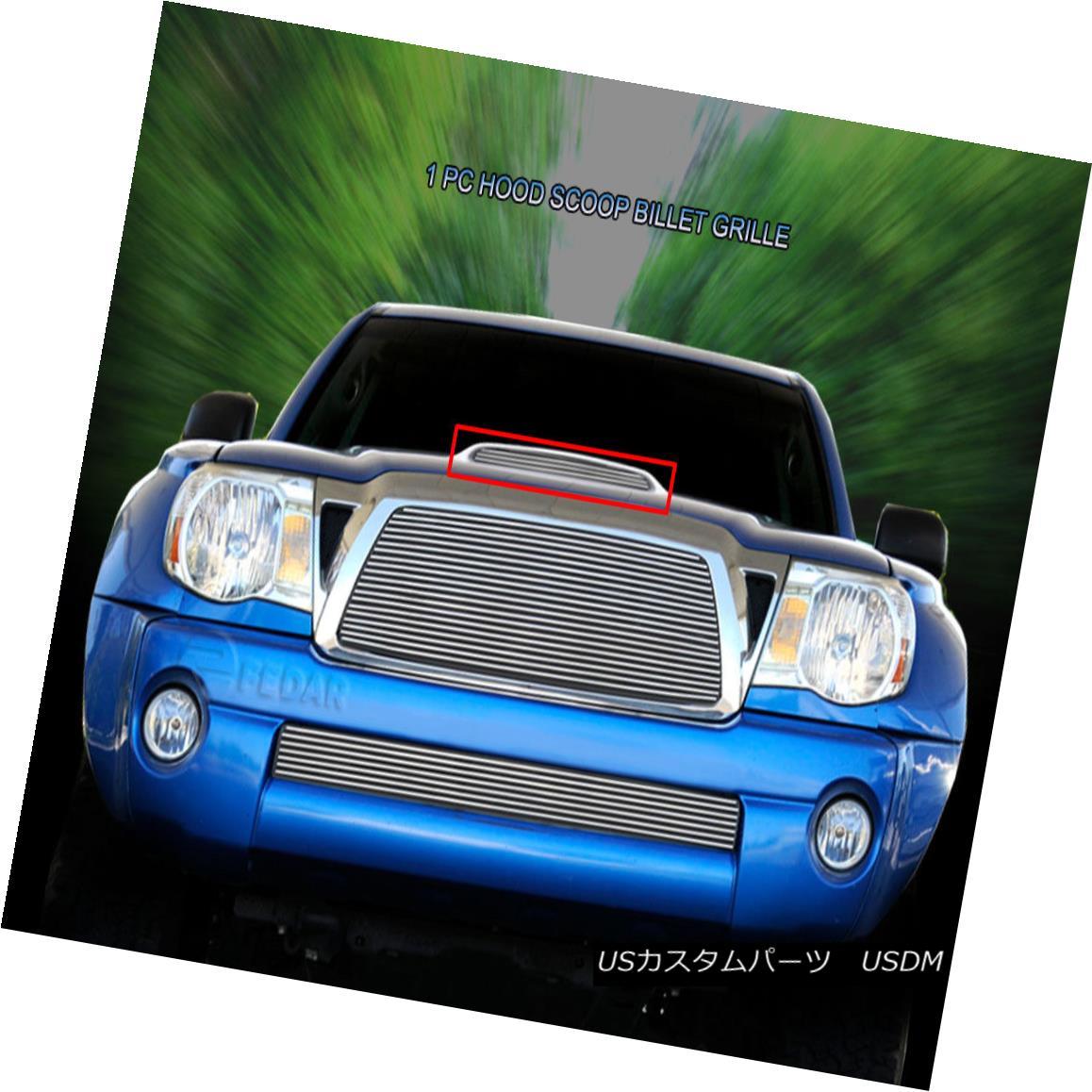 グリル For 2005-2011 Toyota Tacoma TRD Sport Replacement Hood Scoop Billet Grille Fedar 2005?2011年トヨタタコマTRDスポーツ交換フードスクープビレットグリルフェルダー