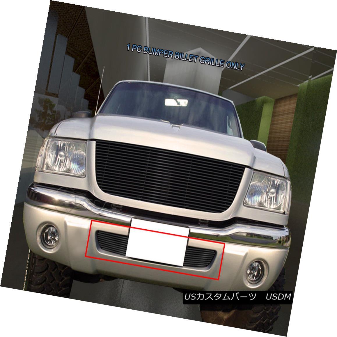 グリル Fedar Fits 01-03 Ford Ranger 4WD/Edge 4WD Black Billet Grille Insert フェーダーフィット01-03フォードレンジャー4WD /エッジ4WDブラックビレットグリルインサート