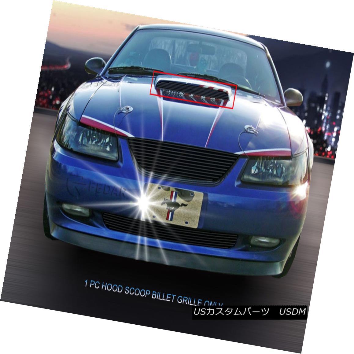 グリル 1999-2004 Ford Mustang GT V8 Hood Scoop Billet Grille Upper Black Insert Fedar 1999-2004フォードマスタングGT V8フードスクープビレットグリルアッパーブラックインサートフェルダ