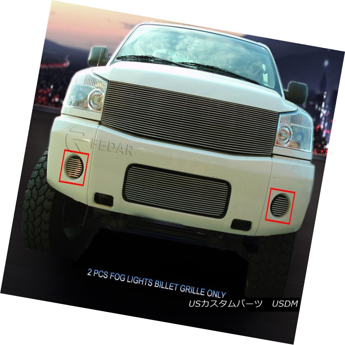 グリル Fedar Fits 04-07 Nissan Titan/Armada Polished Billet Grille Overlay Fedar Fits 04-07 Nissan Titan / Armadaポリッシュビレットグリルオーバーレイ