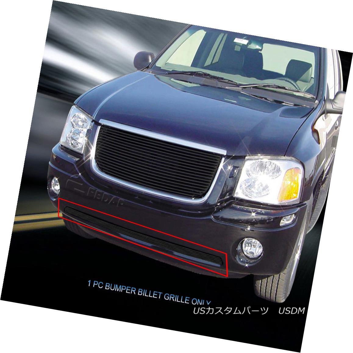 グリル Fits 2001 - 2009 GMC Envoy Black Billet Grille Lower Bumper Grill Insert Fedar フィット2001 - 2009 GMCエンボイブラックビレットグリルロワーバンパーグリルインサートFedar