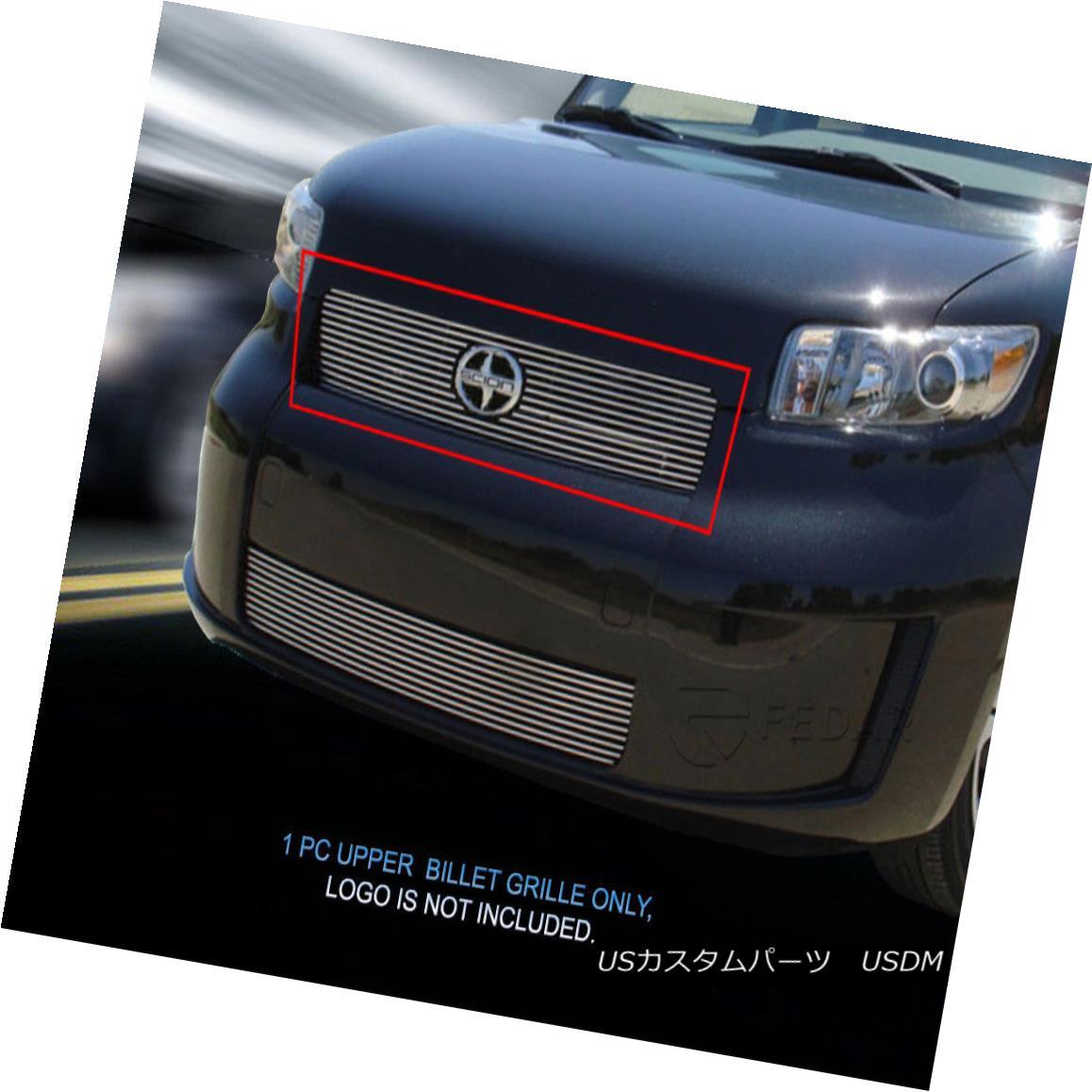グリル For 2008-2010 Scion XB Bolt-On Billet Grille Main Upper Grill Insert Fedar 2008-2010シオンXBボルトオンビレットグリルメインアッパーグリルインサートフェルダ