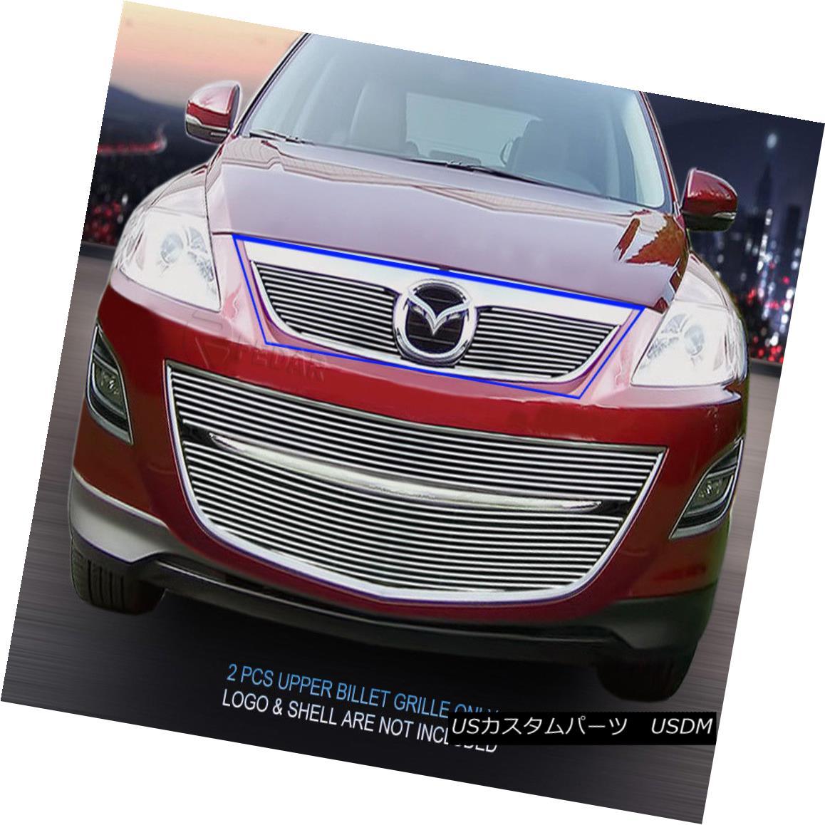 グリル Fedar Fits 2010-2013 Mazda CX-9 Polished Main Upper Billet Grille Fedarは2010-2013年を適合させるマツダCX-9は磨かれたメインアッパービレットグリル