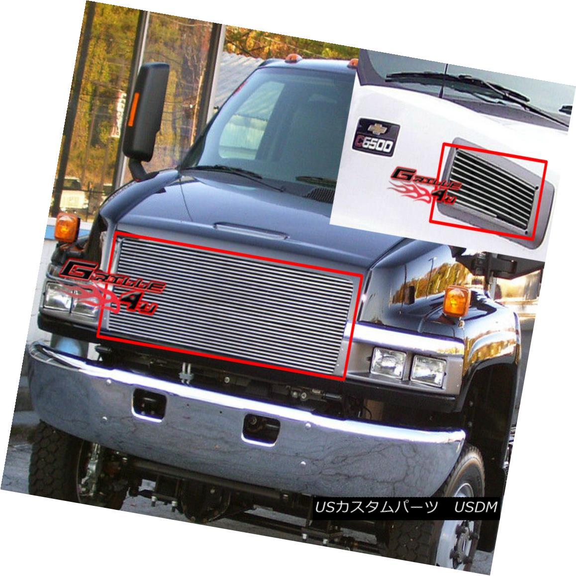 グリル For 03-09 Chevy Kodiak C4500-C9500 Billet Grille Combo 03-09 Chevy Kodiak C4500-C9500ビレットグリルコンボ用