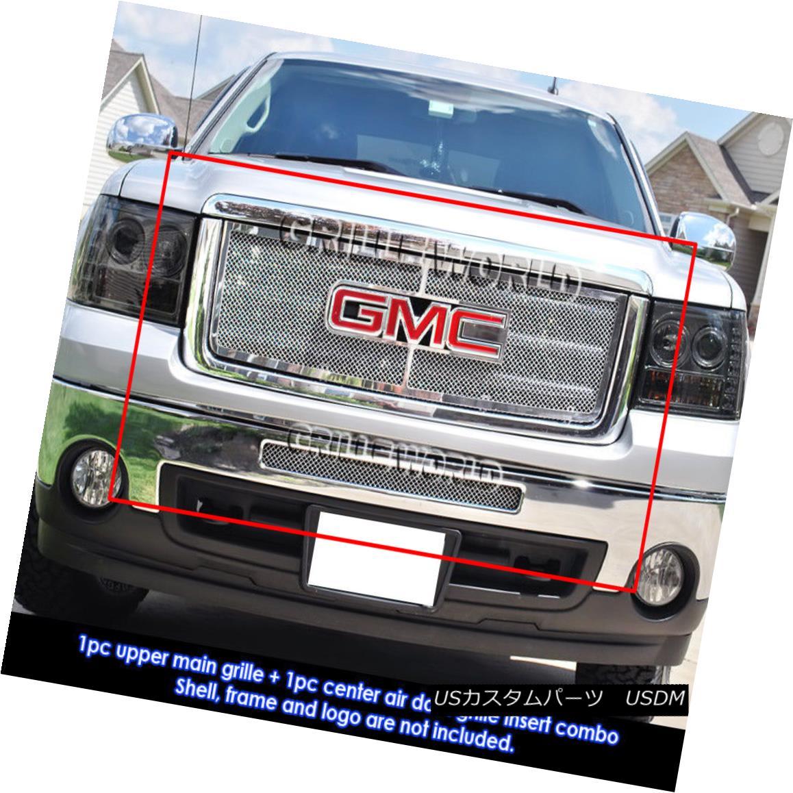 グリル 07-12 GMC Sierra 1500/07-10 GMC Sierra Denali Mesh Grille Grill Combo Insert 07-12 GMC Sierra 1500 / 07-10 GMC Sierra Denaliメッシュグリルグリルコンボインサート