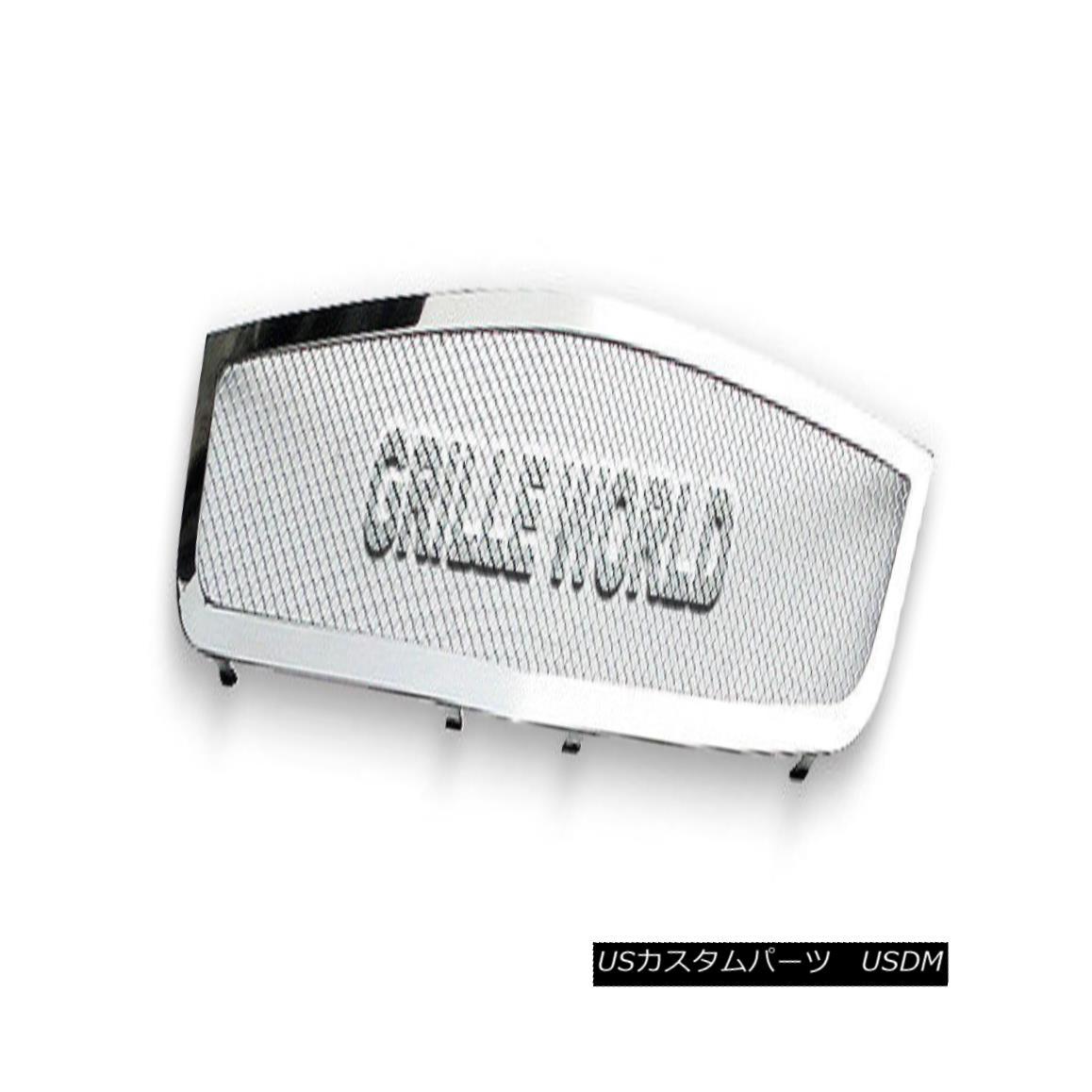 グリル Customized For 06-10 Cadillac DTS Stainless Mesh Premium Grille Insert 06-10キャデラックDTSステンレスメッシュプレミアムグリルインサート用にカスタマイズ