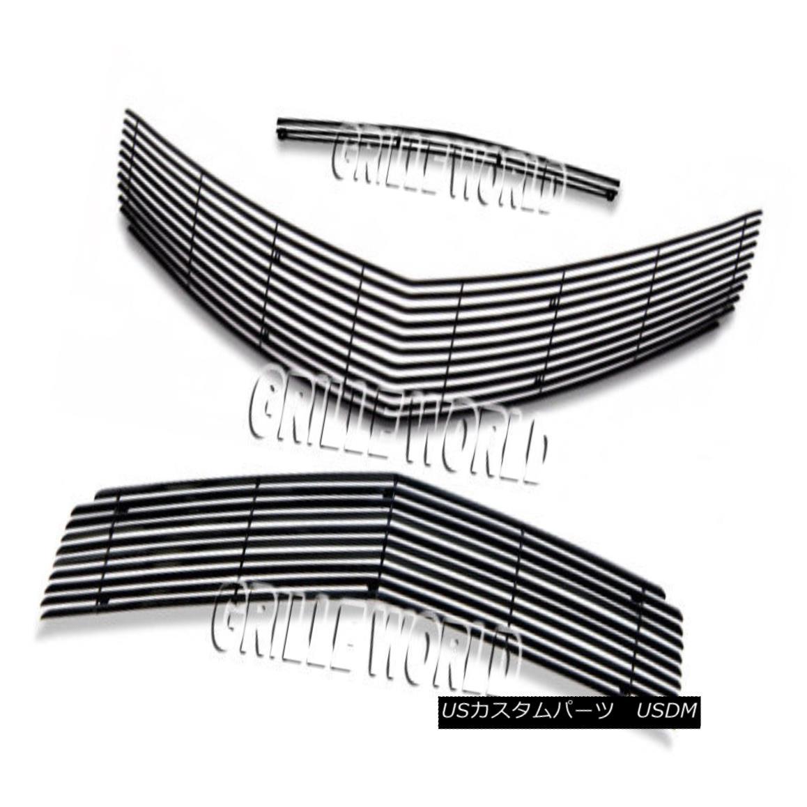グリル For 2010-2013 Chevy Camaro SS V8 Black Billet Premium Grille Grill Insert Combo 2010-2013シボレーカマロSS V8ブラックビレットプレミアムグリルグリルインサートコンボ用