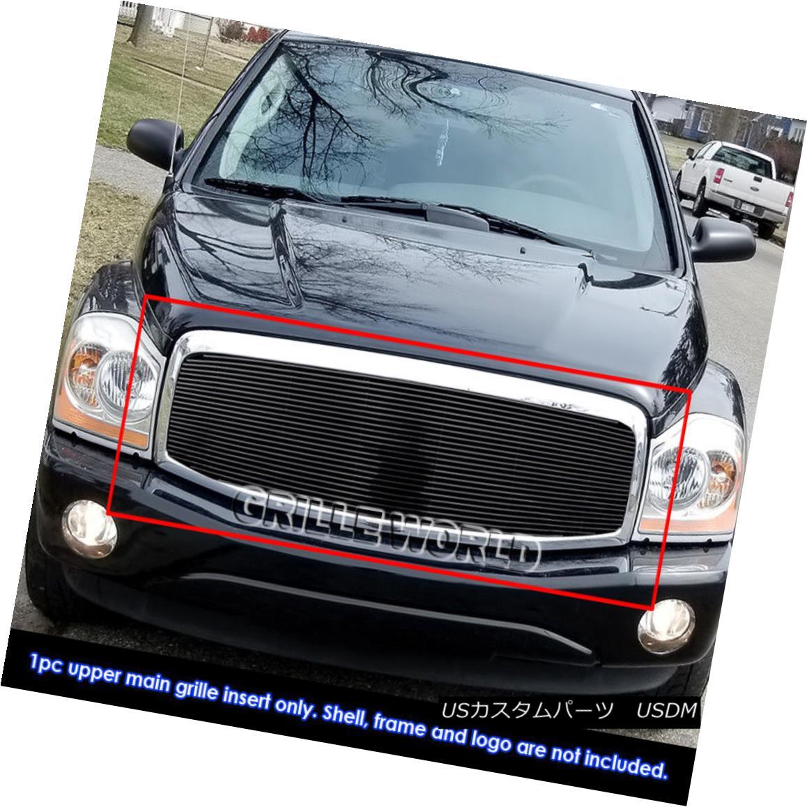 グリル Fits 2004-2006 Dodge Durango Black Billet Grille Grill Insert 2004-2006 Dodge Durango Black Billetグリルグリルインサートに適合