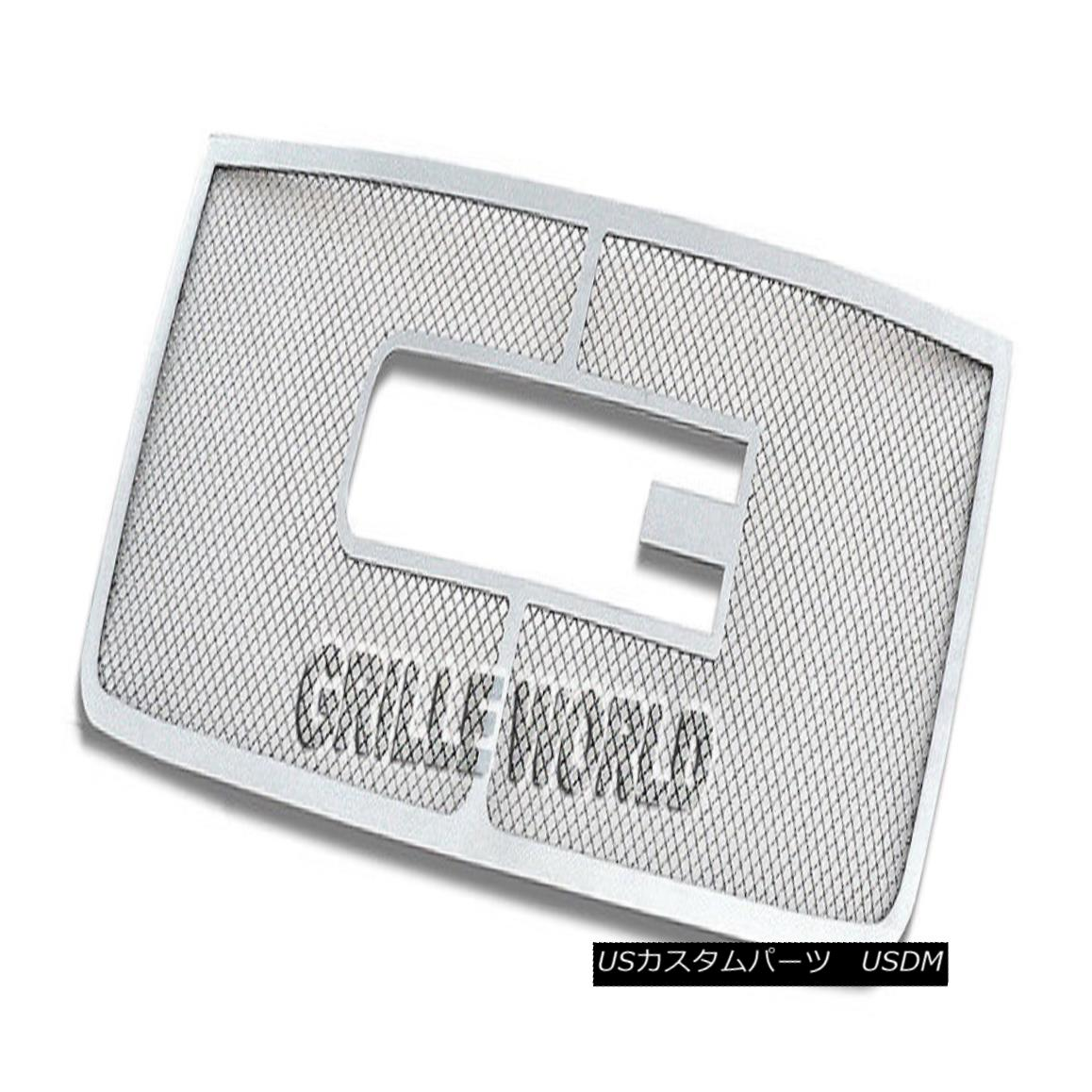 グリル Customized For 07-10 GMC Sierra 2500/3500/HD Stainless Mesh Premium Grille 07-10 GMC Sierra 2500/3500 / HDステンレスメッシュプレミアムグリル用にカスタマイズ