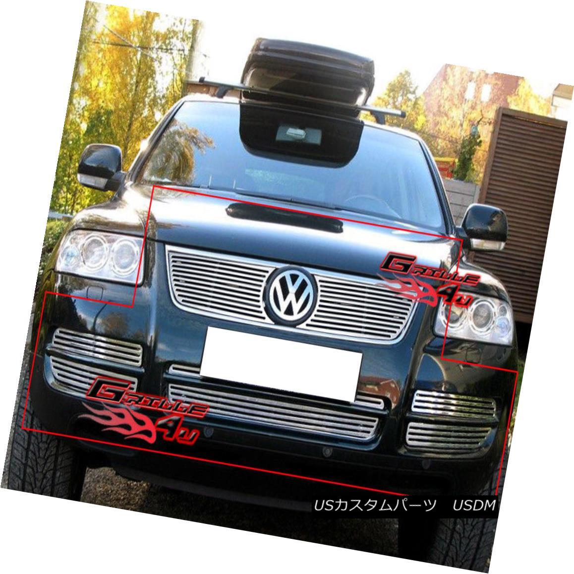 グリル For 03-07 Volkswagen VW Touareg V6 Billet Grille Combo 03-07フォルクスワーゲンVWトアレグV6ビレットグリルコンボ用