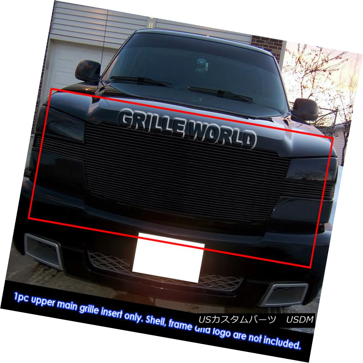 グリル 03-06 Chevy Avalanche/03-05 Silverado 1500/03-04 2500 Black Billet Grille Insert 03-06 Chevy Avalanche / 03-0 5 Silverado 1500 / 03-04 2500ブラックビレットグリルインサート