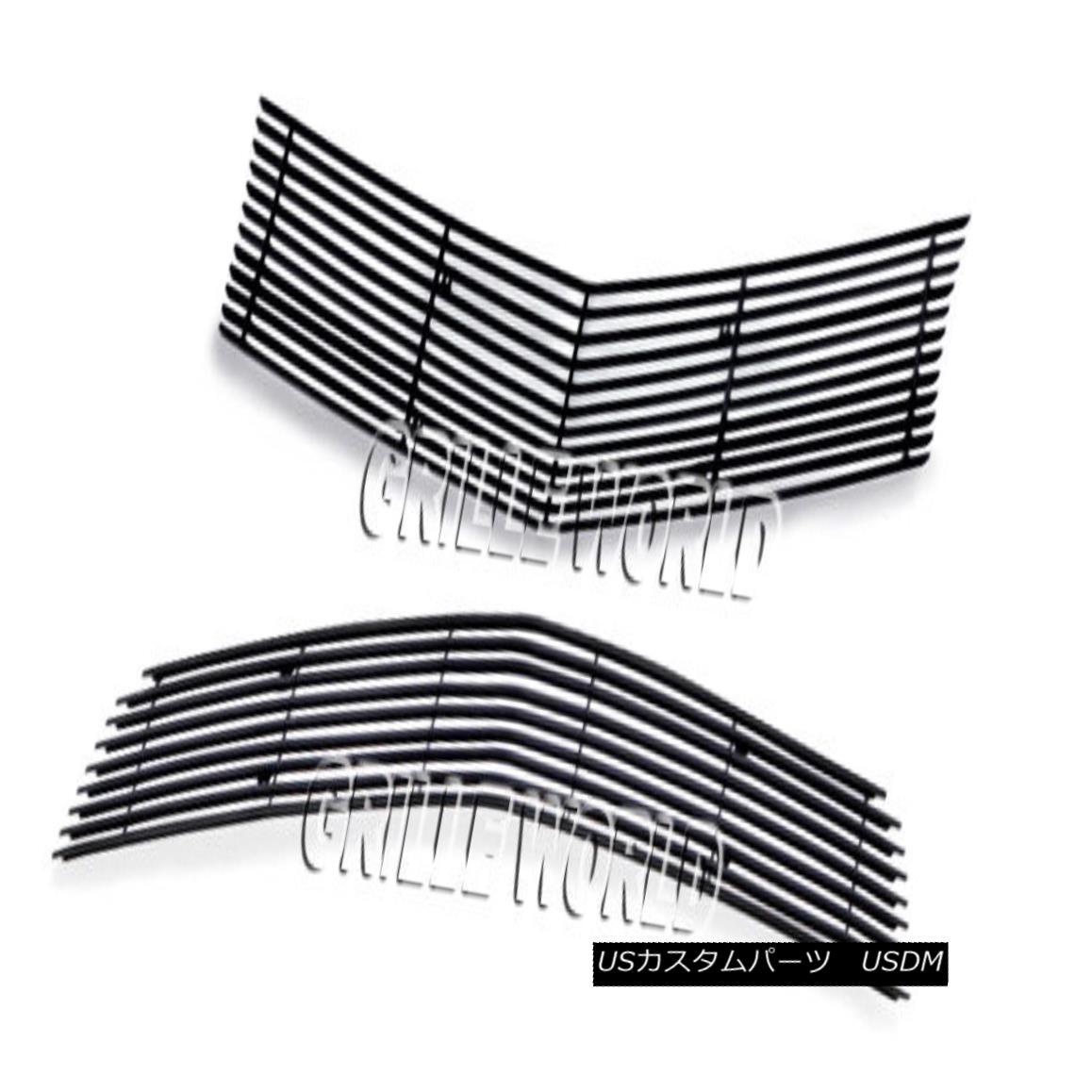 グリル For 2010-2013 Chevy Camaro LT/LS V6 Black Billet Premium Grille Grill Combo 2010-2013シボレーカマロLT / LS V6ブラックビレットプレミアムグリルグリルコンボ用