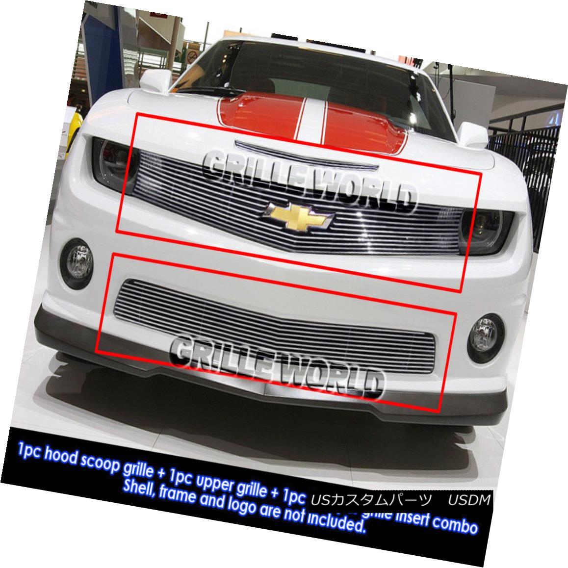 グリル For 2010-2013 Chevy Camaro SS V8 Billet Grille Grill Combo Insert 2010-2013シボレーカマロSS V8ビレットグリルグリルコンボインサート