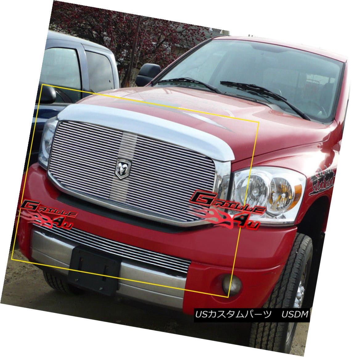 グリル For 06-08 Dodge Ram Sport Pickup Billet Grille Combo Insert 06-08ダッジラムスポーツピックアップビレットグリルコンボインサート