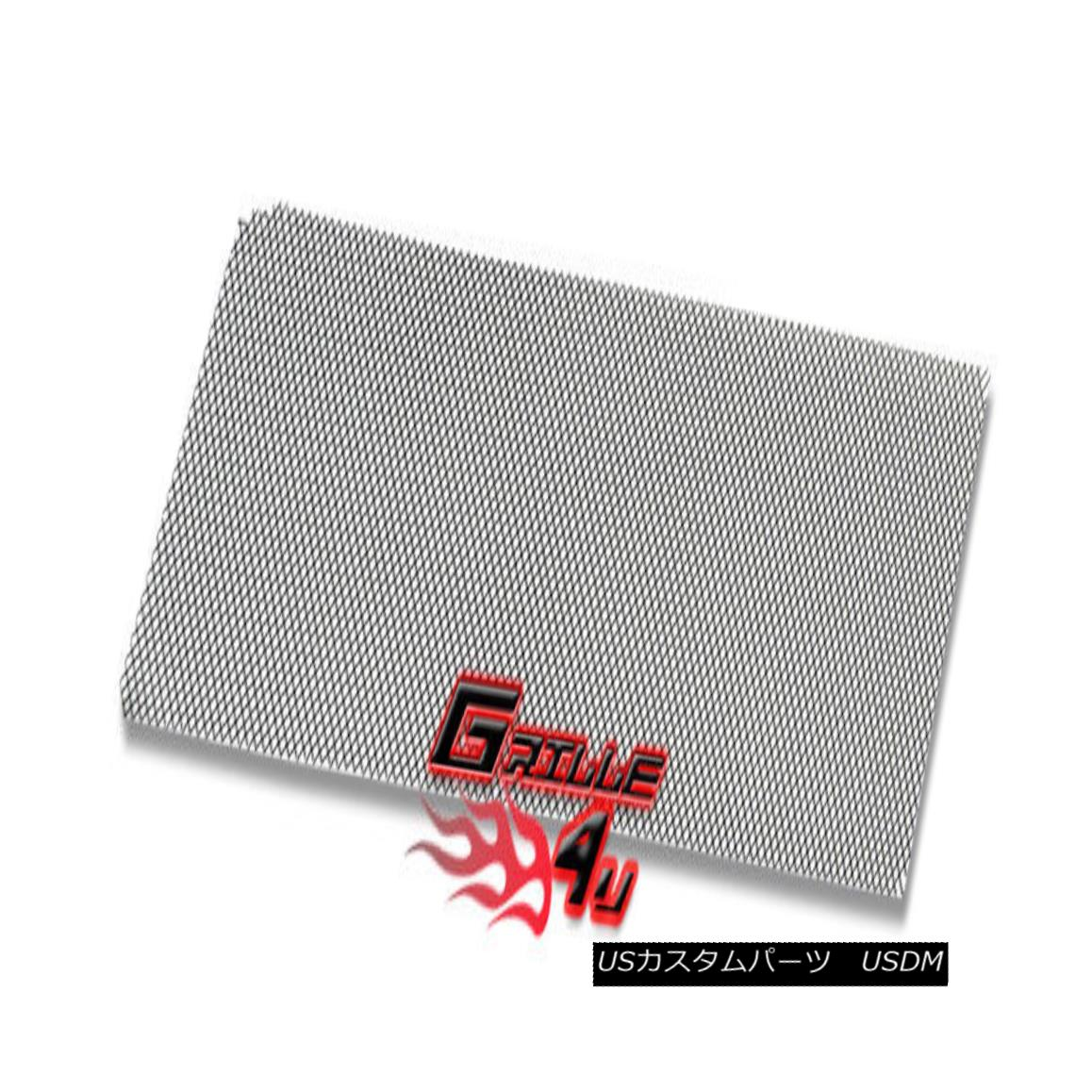 グリル For Universal Black Stainless Steel Mesh Premium Grille 12X48 5pc ユニバーサルブラックステンレススチールメッシュプレミアムグリル12X48 5個入り