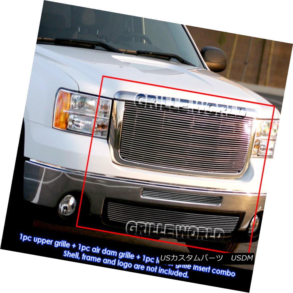 グリル For 07-10 GMC Sierra 2500/3500/HD Billet Grille Insert Combo 07-10 GMC Sierra 2500/3500 / HDビレットグリルインサートコンボ用
