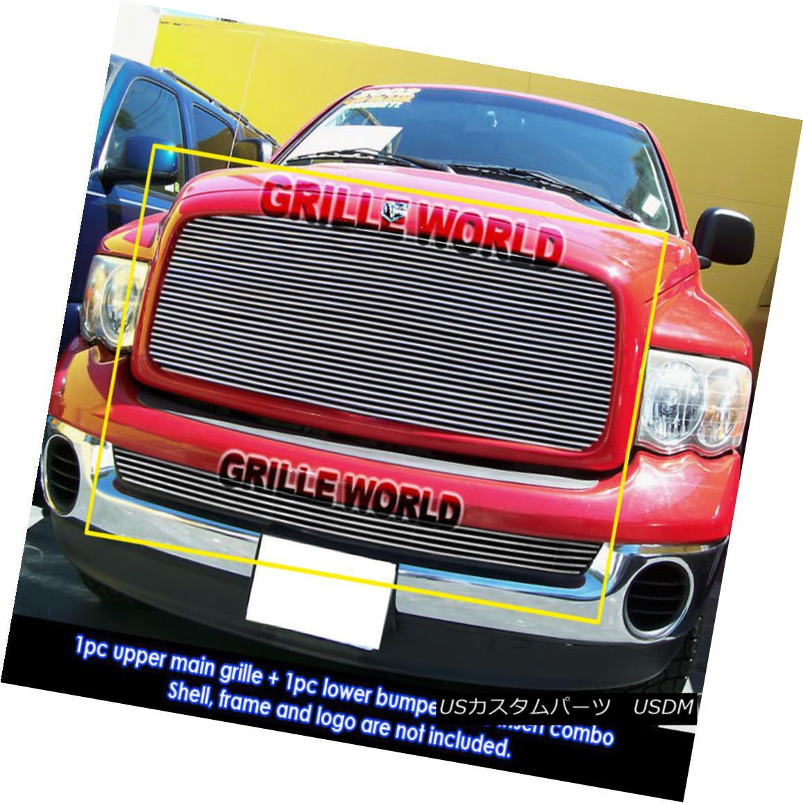 グリル For 02-05 Dodge Ram Regular Model Billet Grille Insert Combo 02-05 Dodge Ramレギュラーモデルビレットグリルインサートコンボ用