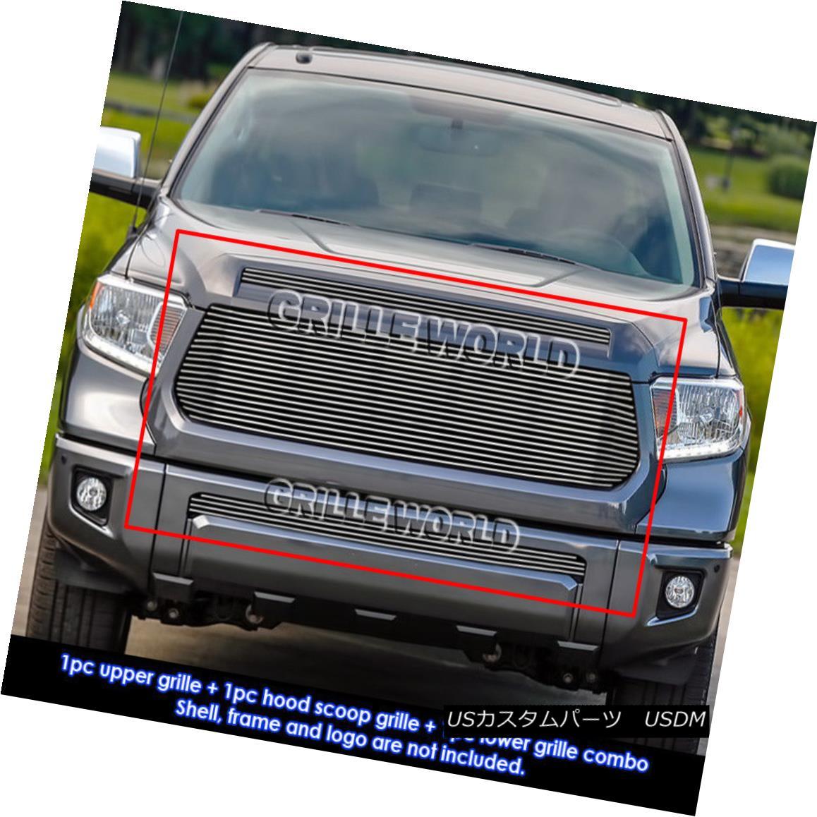 グリル For 2014-2015 Toyota Tundra Replacement Style Billet Grill Insert Combo 2014年?2015年トヨタトンドラ交換スタイルビレットグリルインサートコンボ