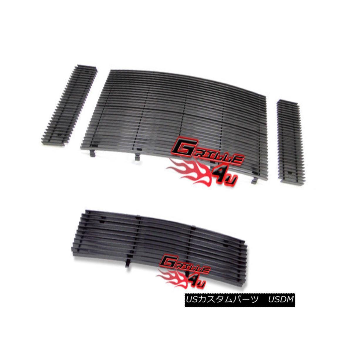 グリル For 08-10 Ford F250/F350 SD Black Billet Premium Grille Combo 08-10フォードF250 / F350 SDブラックビレットプレミアムグリルコンボ用