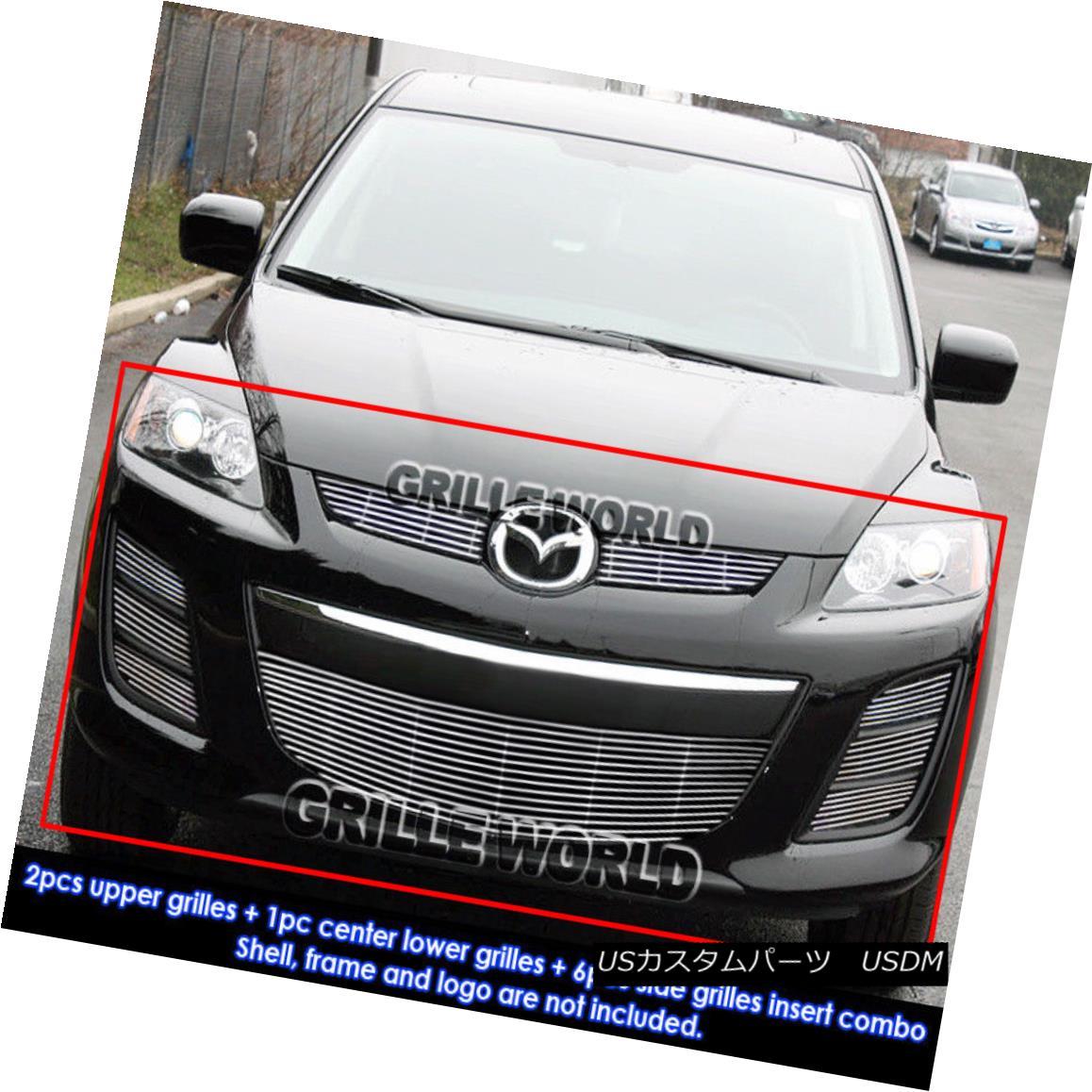 グリル For 2010-2012 Mazda CX-7 CX7 Billet Grille Grill Combo Insert 2010-2012マツダCX-7 CX7ビレットグリルグリルコンボインサート用