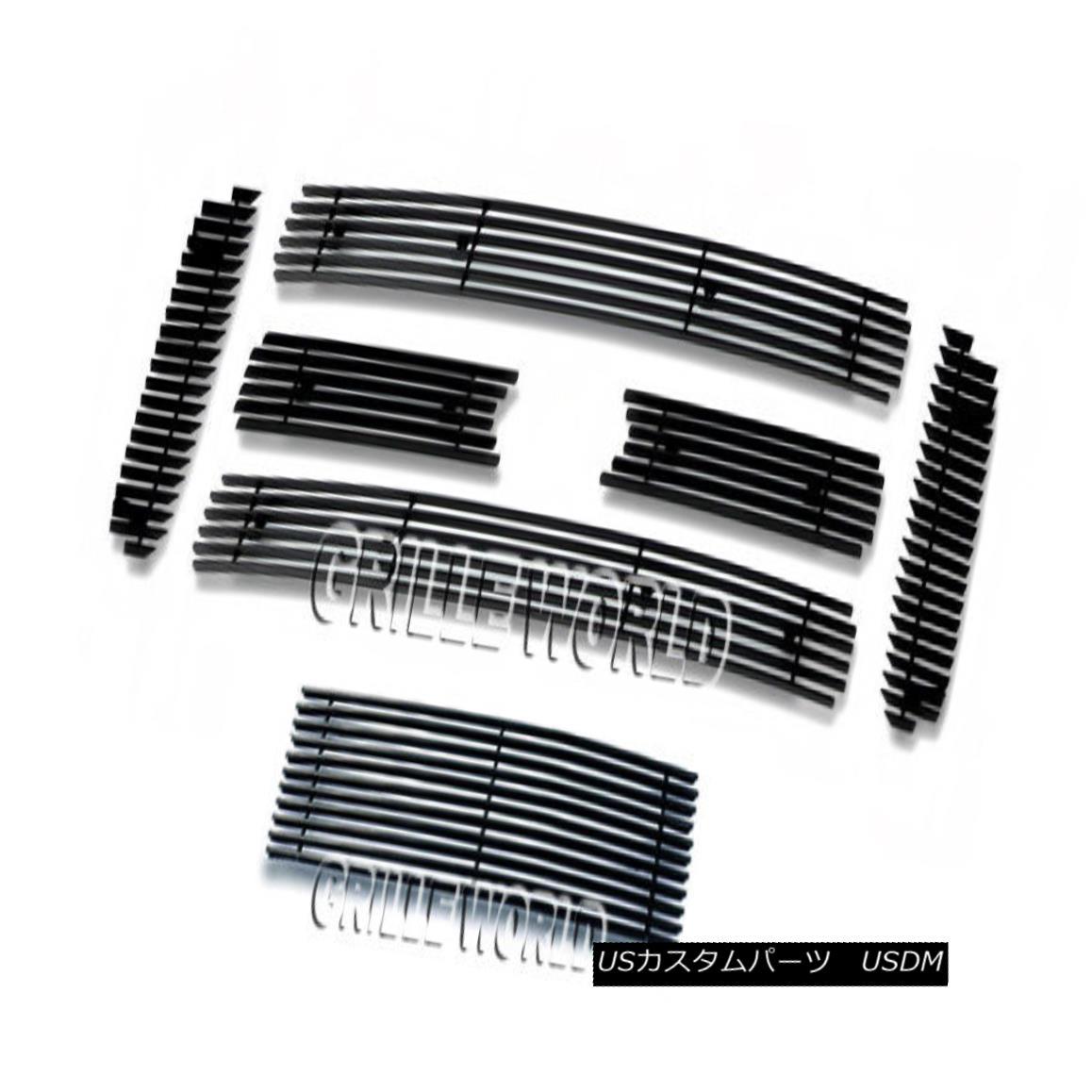 グリル For 05-07 Ford F250/F350 Super Duty Black Billet Premium Grille Grill Combo 05-07 Ford F250 / F350スーパーデューティブラックビレットプレミアムグリルグリルコンボ用