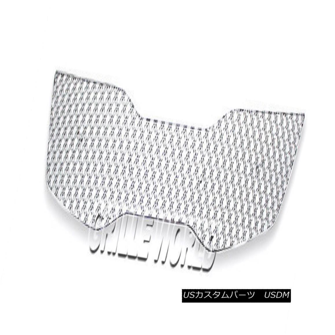 グリル For 2011-2014 Kia Optima SX/EX/Hybrid Stainless Double Wire X Mesh Grille Grill 2011年?2014年Kia Optima SX / EX /ハイブリッドステンレスダブルワイヤーXメッシュグリルグリル