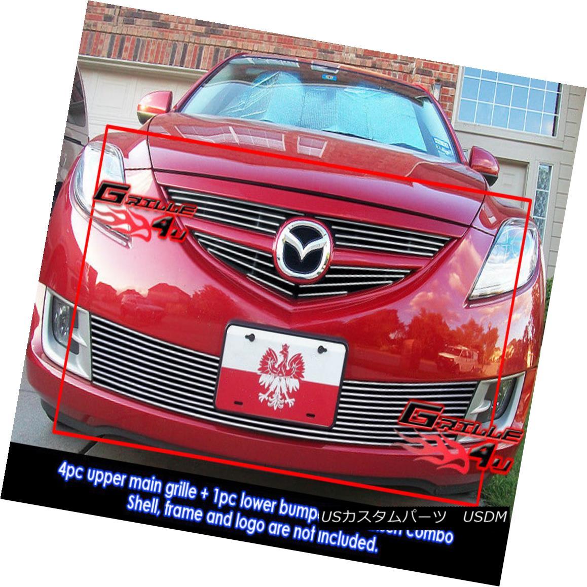 グリル For 09-10 2010 Mazda 6 Billet Grille Combo Insert 09-10 2010マツダ6ビレットグリルコンボインサート